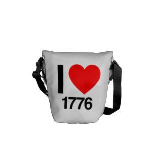 i love 1776 courier bag