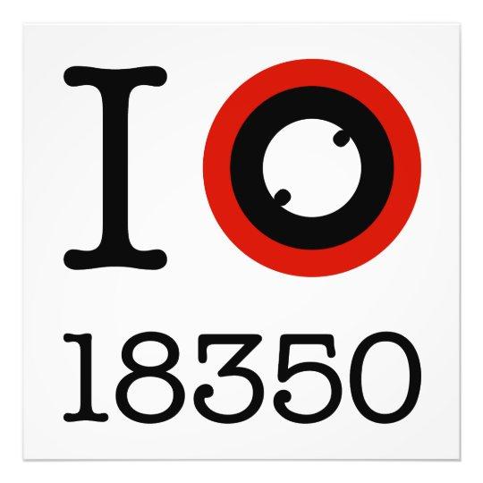 I Love 18350 Li-Ion Batteries Photo Print