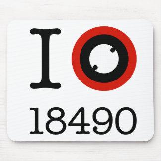 I Love 18490 Li-Ion Batteries Mouse Pad