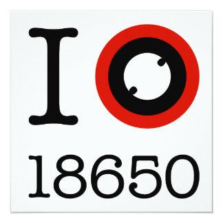 I Love 18650 Li-Ion Batteries Card