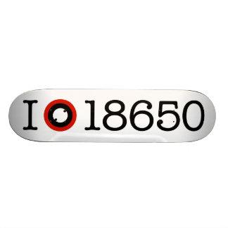 I Love 18650 Li-Ion Batteries Skateboard Deck
