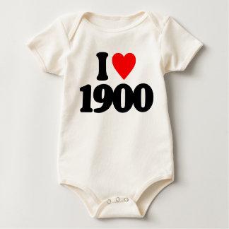 I LOVE 1900 BABY BODYSUITS