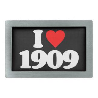 I LOVE 1909 BELT BUCKLES