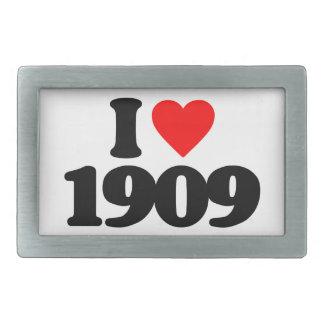 I LOVE 1909 RECTANGULAR BELT BUCKLES