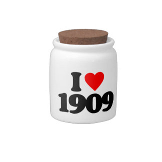 I LOVE 1909 CANDY DISHES