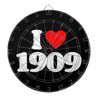 I LOVE 1909 DARTBOARD WITH DARTS