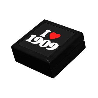 I LOVE 1909 KEEPSAKE BOX