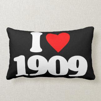 I LOVE 1909 THROW PILLOW