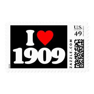 I LOVE 1909 STAMP