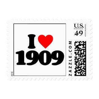 I LOVE 1909 POSTAGE STAMPS