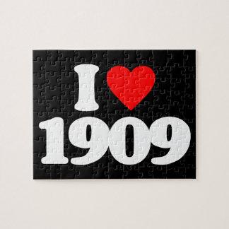 I LOVE 1909 JIGSAW PUZZLES