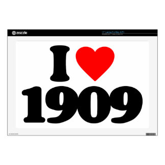 """I LOVE 1909 DECALS FOR 17"""" LAPTOPS"""