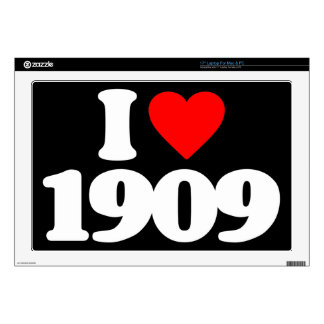 I LOVE 1909 DECAL FOR LAPTOP