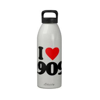 I LOVE 1909 REUSABLE WATER BOTTLE