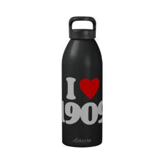 I LOVE 1909 DRINKING BOTTLE