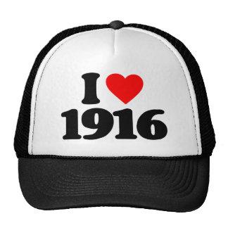 I LOVE 1916 TRUCKER HAT