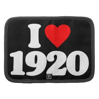 I LOVE 1920 ORGANIZER