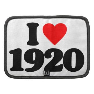 I LOVE 1920 ORGANIZERS