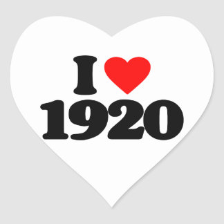 I LOVE 1920 HEART STICKER