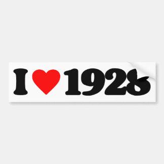 I LOVE 1928 CAR BUMPER STICKER