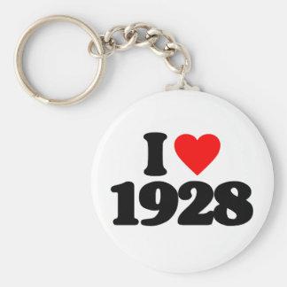 I LOVE 1928 KEYCHAINS