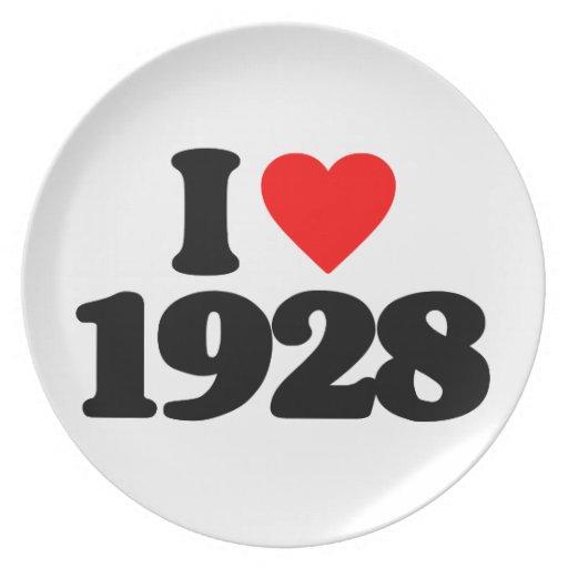 I LOVE 1928 PLATE