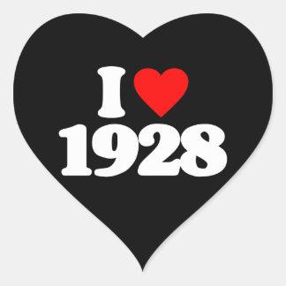 I LOVE 1928 HEART STICKER