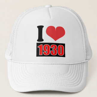 I love 1930 - Hat