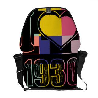 I love 1930 - Pop art vintage - Messenger Bag