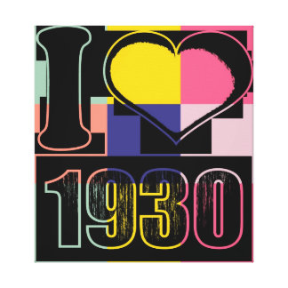 I love 1930 - Pop art Wrapped Canvas