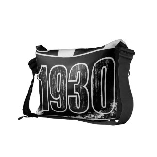 I love 1930 - White black vintage - Messenger Bag