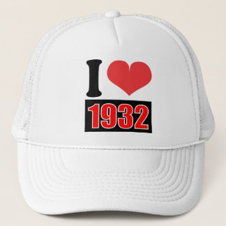 I love 1932 - Hat