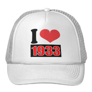 I love 1933 - Hat