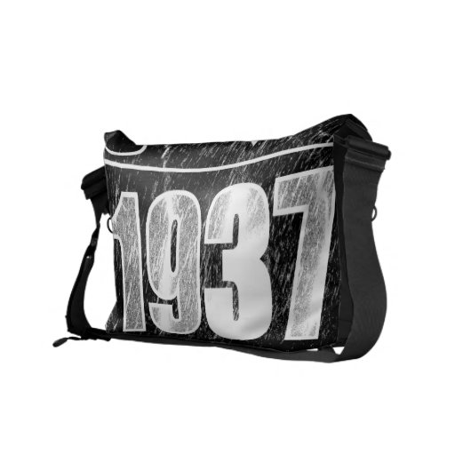 I love 1937 - Snow vintage - Messenger Bags