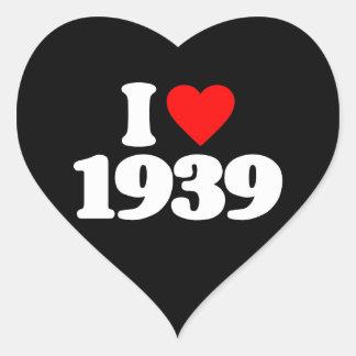 I LOVE 1939 STICKERS