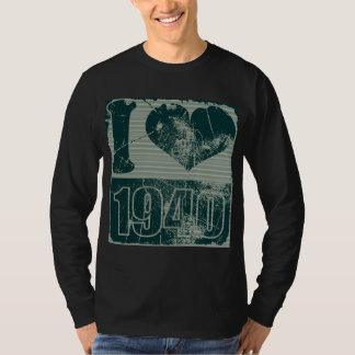 I love 1940 - Dark Blue Vintage T-shirt