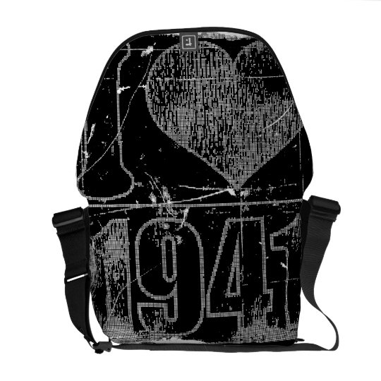 I love 1941 - Black vintage - Messenger Bags