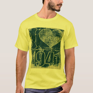 I love 1941 -  Yellow, Dark blue Vintage t-shirt