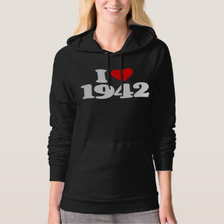 I LOVE 1942 HOODED PULLOVERS