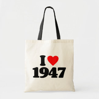 I LOVE 1947 TOTE BAGS