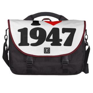 I LOVE 1947 LAPTOP BAGS