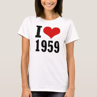 I Love 1959 Mini T-Shirt