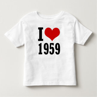 I Love 1959 Mini Toddlers T-Shirt