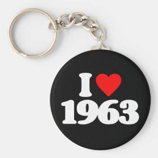 I LOVE 1963 KEYCHAIN