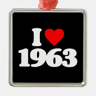 I LOVE 1963 ORNAMENT