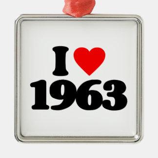 I LOVE 1963 CHRISTMAS ORNAMENT