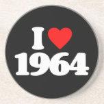 I LOVE 1964 DRINK COASTER