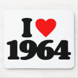 I LOVE 1964 MOUSE PADS