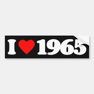 I LOVE 1965 BUMPER STICKER