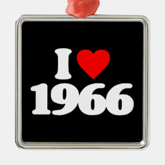 I LOVE 1966 CHRISTMAS ORNAMENTS